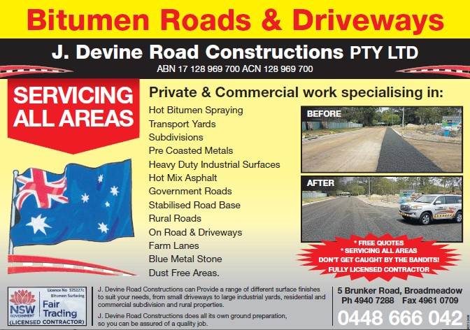 Bitumen Roads & Driveways Newcastle, Sydney & Central Coast