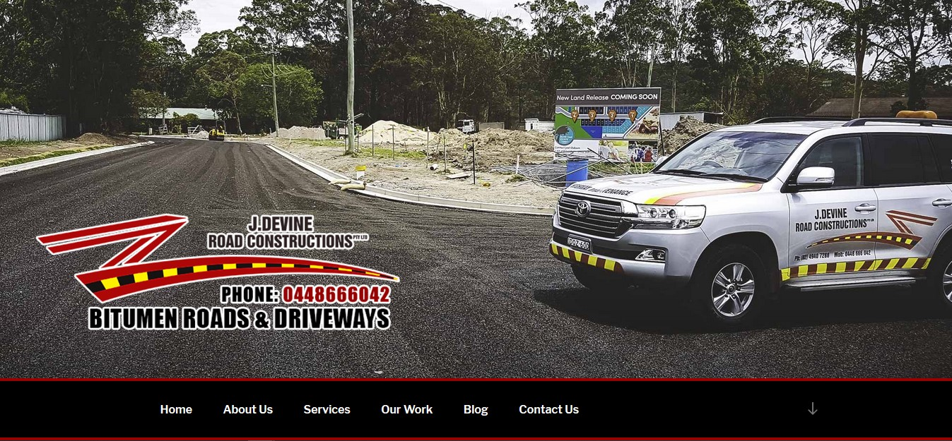 Brand New Website for J. Devine Road Constructions